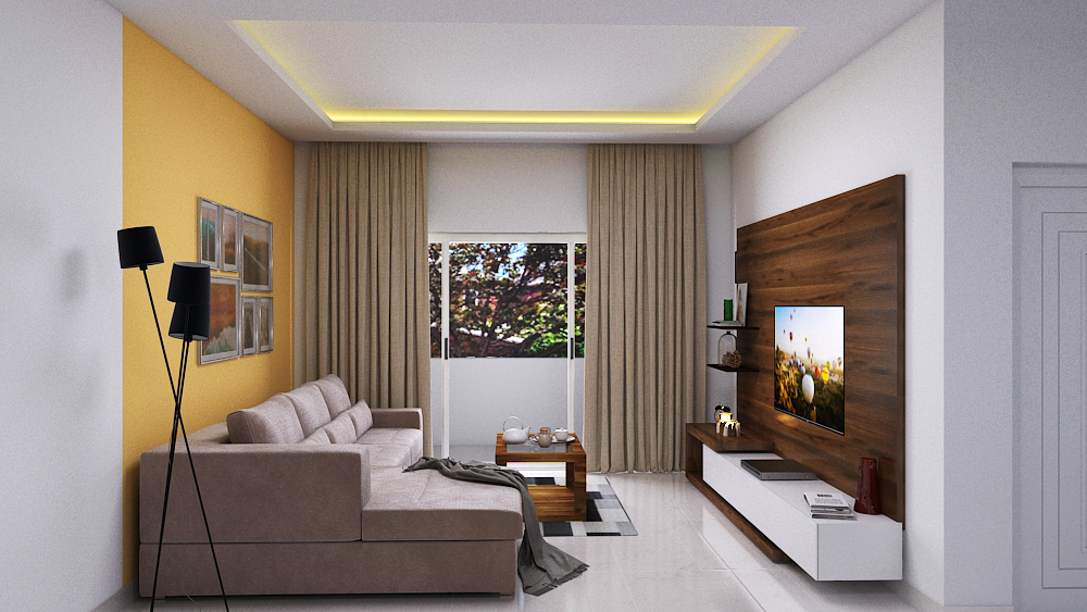 Interior Design 3bhk Contemporary Apartment In Brigade Cosmopolis Bangalore Holanta